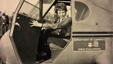 Амелия Эрхарт — женщина-пилот, пропавшая в океане